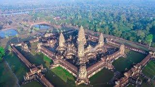 Angkor Wat Cambodia from the sky | 2018
