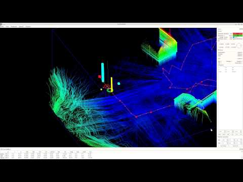 GNSS/IMU/INS/LiDAR-based UAV-Mapping process (in simulation)