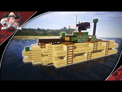 Minecraft: WW2 Sherman DD | Duplex Drive Medium Tank Tutorial