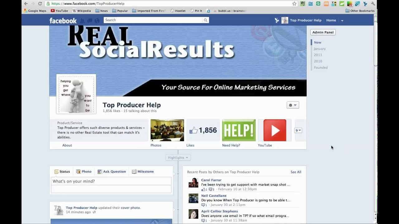 Facebook Business Page Timeline Layout What When How Long Tutorial ...