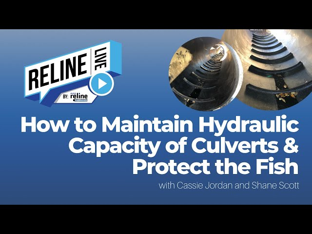 Reline LIVE: How to Maintain Hydraulic Capacity of Culverts & Protect the Fish with Shane Scott