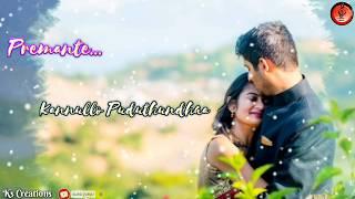 Telugu Beautifull Wtsapp Status// Premante Kannullo Pudthundhaa Song//Wtsapp Status// #KsCreations