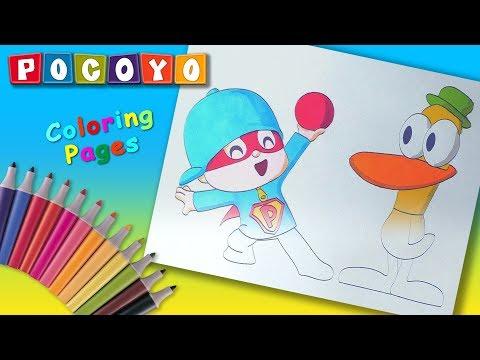 Pocoyo 2019 Coloring Book For Kids Super Pocoyo Yellow