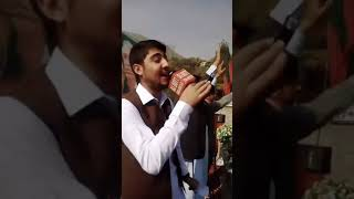 Shahzad Ayyubi Live Performance in PTI Jalsa   PTI Jalsa in Chitral  