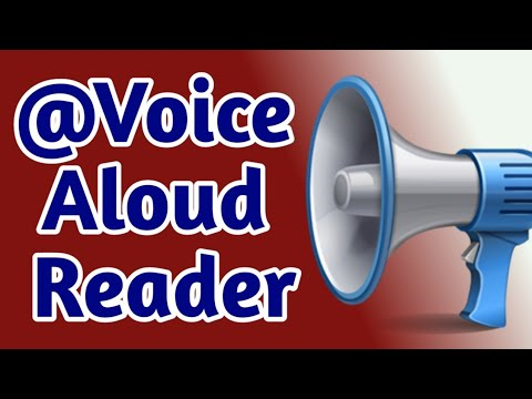 How To Read PDF, HTML, DOC, TXT Books Using The @Voice Aloud Reader Application.