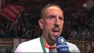 Interview mit Franck Ribery nach dem spiel gegen Borussia Dortmund - DFB Pokal 2016