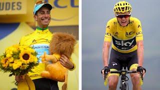 Tour de France: Fabio Aru takes yellow as Chris Froome stumbles