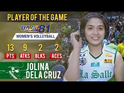 UAAP 81 WV: Jolina Dela Cruz Scores 13 Points In 3 Sets To Earn PoG In DLSU Win | April 7, 2019