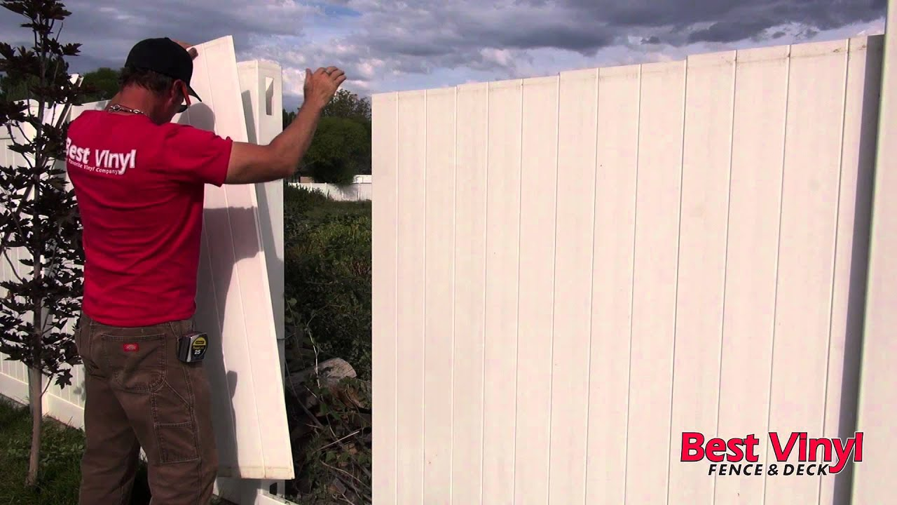 Vinyl Fence section repair