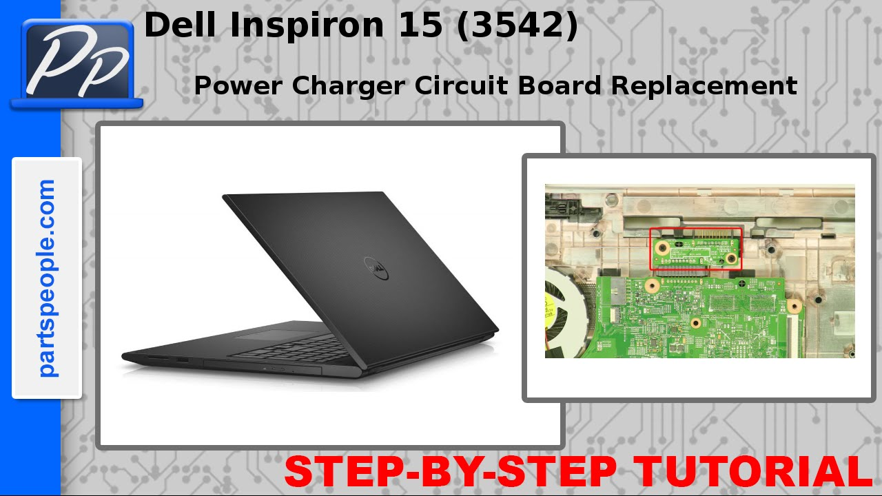 small resolution of dell inspiron 15 3542 3543 power charger circuit board video tutorial teardown youtube
