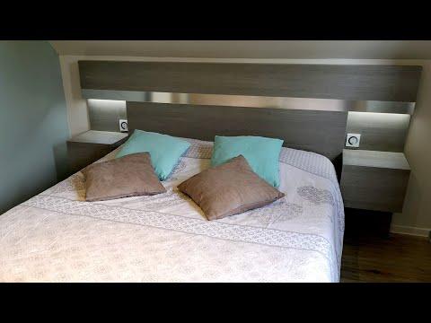 Fabriquer une tête de lit avec chevets et éclairage intégrés