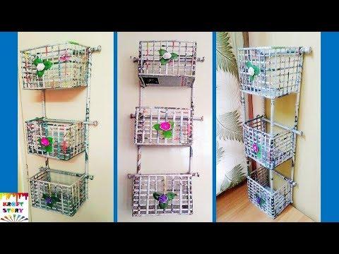 DIY  Newspaper wall mount rack   Newspaper organizer
