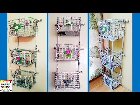 DIY  Newspaper wall mount rack | Newspaper organizer