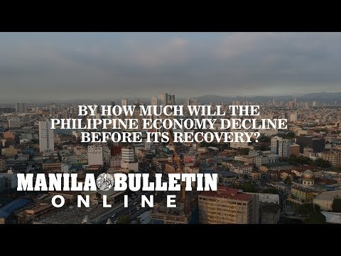 By how much will the Philippine economy decline before its recovery?