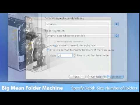 Big Mean Folder Machine for Mac OS X - Merge and Split Mac File Collections