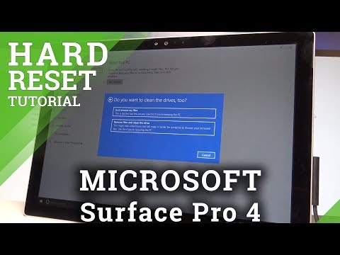 how to reset a surface pro