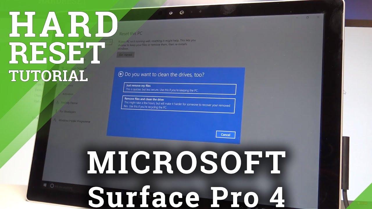 hard reset microsoft surface 2017