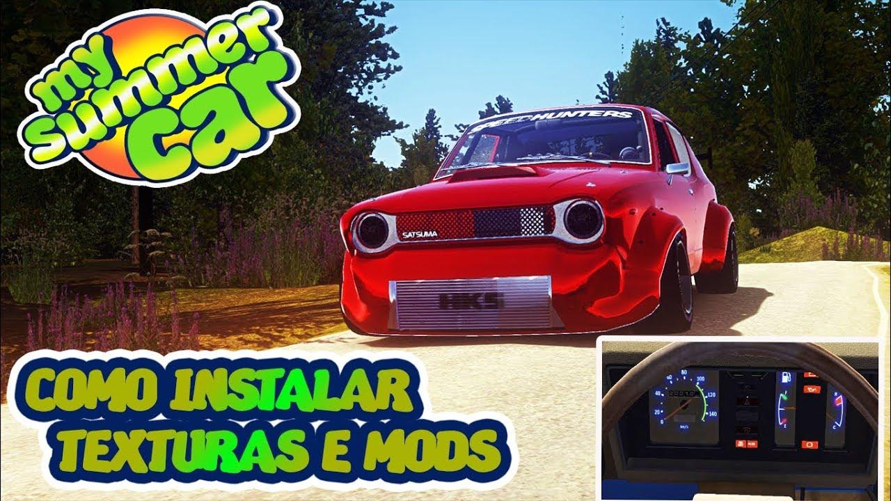 COMO INSTALAR MSCLOADER | MODS E AS TEXTURAS - MY SUMMER CAR