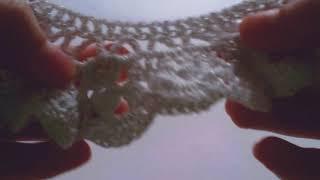 """Воротник крючком """"Блестящий"""" на белое школьное платье (пришивной) . Вязание крючком для начинающих ."""