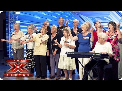 The Nostalgics sing Bring Me Sunshine by Sylvie Dee  Room Auditions Week 4  The X Factor 2013