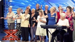 The Nostalgics sing Bring Me Sunshine by Sylvie Dee -- Room Auditions Week 4 -- The X Factor 2013