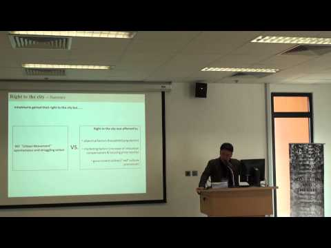 "Chen YANG - ""The Discourse of Social Justice in a Working-class Neighbourhood..."