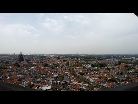 Climbing the tower of Nieuwe Kerk/New Church (Delft) Netherlands