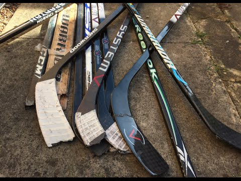 What To Do With Broken Hockey Sticks Improve Stickhandling Youtube