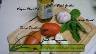 Caprese Salad With Roma Tomatoes And Cherry Size Mozzarella