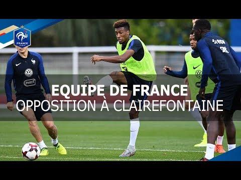 Equipe de France, qualifications Coupe du Monde 2018: entrainement à Clairefontaine I FFF 2017