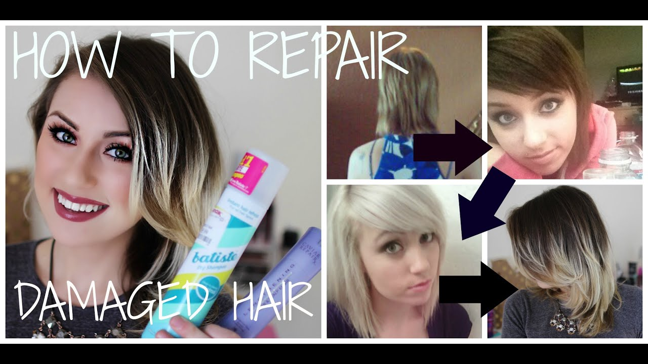 How I Repaired My Damaged Bleached Hair & How i Cut My Hair