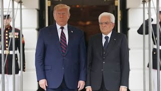 Watch: Trump delivers remarks at White House reception for Italian president