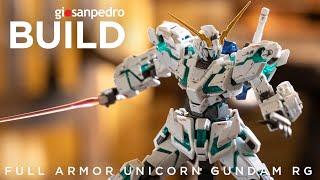 Unicorn Gundam FA RG Satisfying Gunpla Beat Building