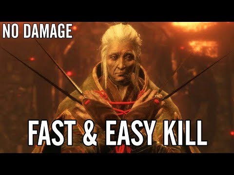 Sekiro: How To Destroy Lady Butterfly - Fast Kill / No Damage /  No Prosthetic / No Snap Seeds