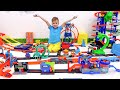 Vlad and Niki fun with toy cars | Hot Wheels City Slime Challenge