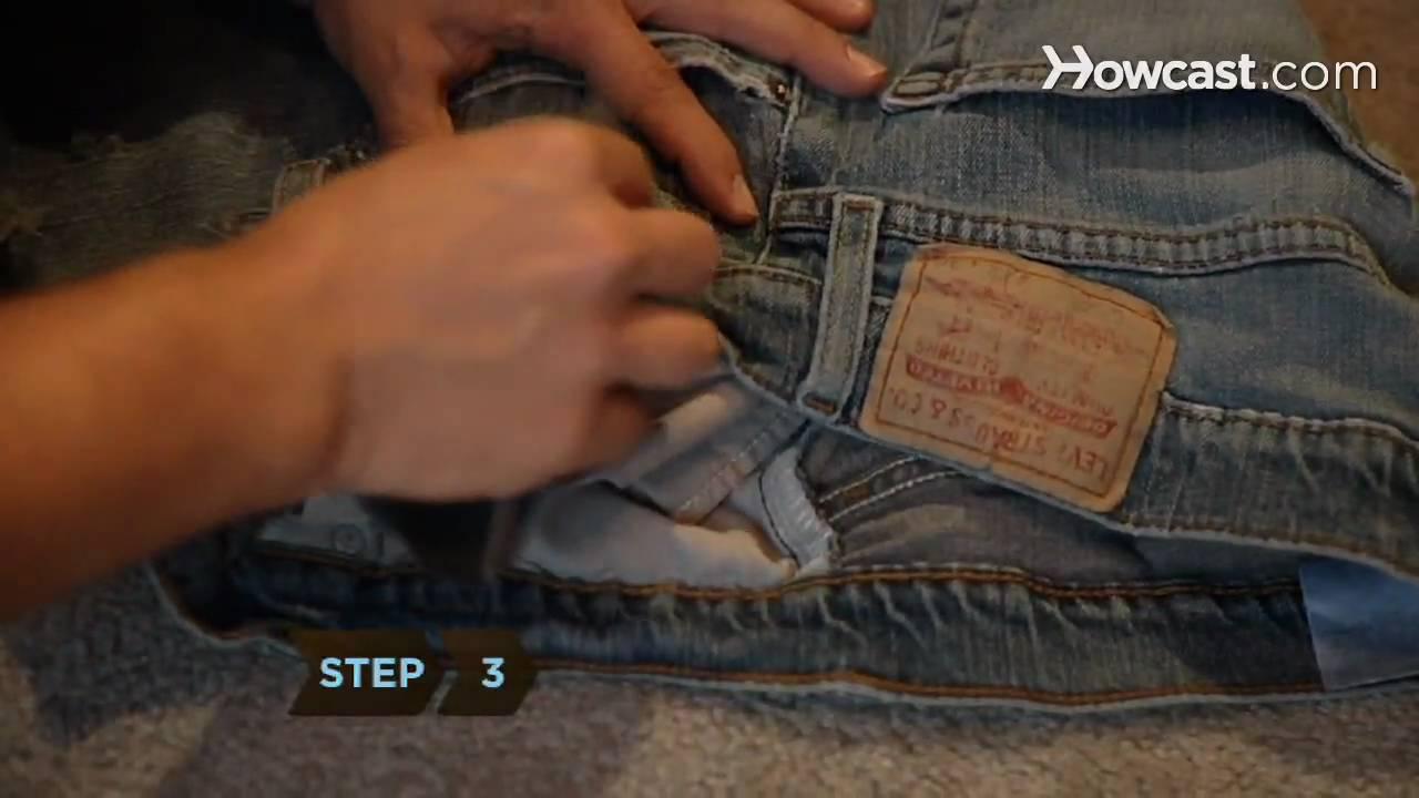 77350f28e173e3 How to Make Distressed Jeans - YouTube