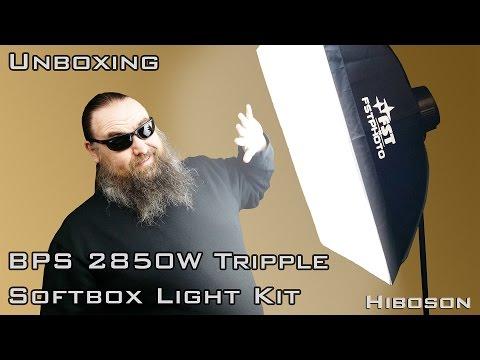 BPS 2850W Softbox Light Kit - Unboxing