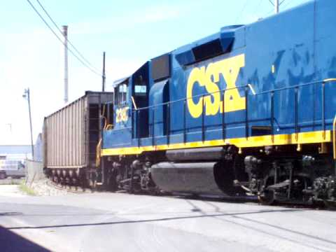 CSX Coal Train on Transfer Track 091809