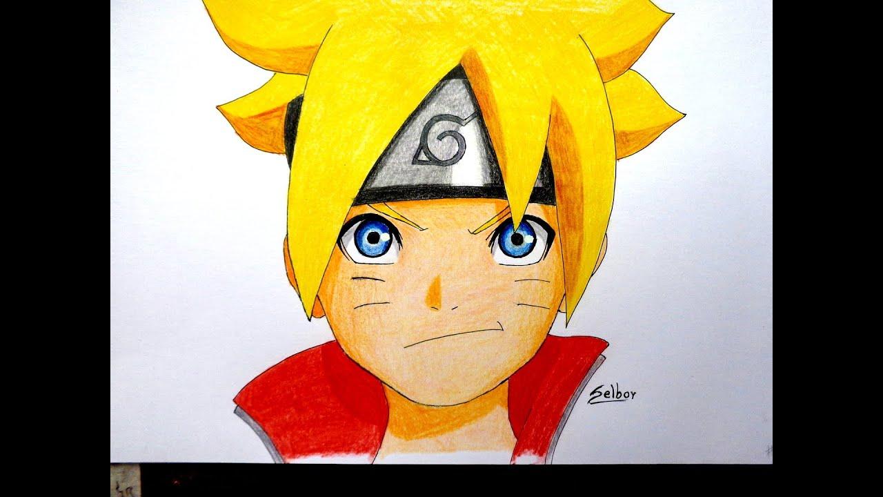 Cmo dibujar a Boruto Naruto  Selbor  YouTube