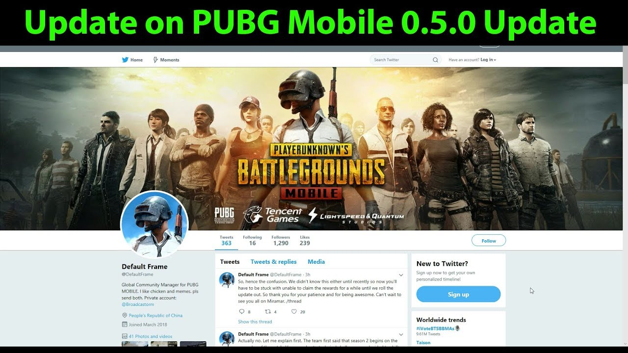 pubg mobile update news 0.5
