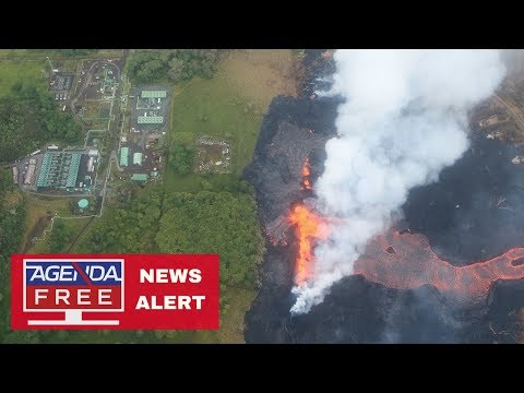 Lava Flows onto Power Plant Property - LIVE COVERAGE