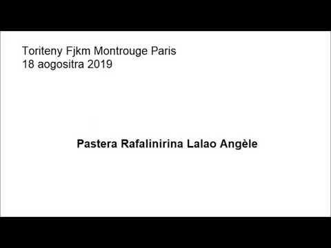 Toriteny Fjkm Montrouge Paris 18 Aogositra 2019 Pr Rafalinirina Lalao Angele