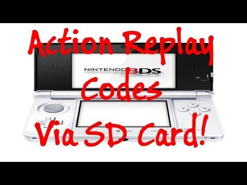 [3DS] Action Replay Codes Usage Tutorial [SD Card]