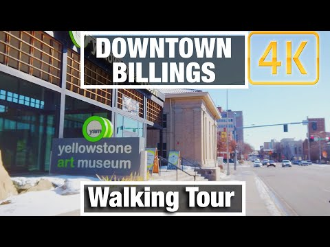 4K City Walks: Billings Montana Downtown Tour - Virtual Walk Walking Treadmill Video