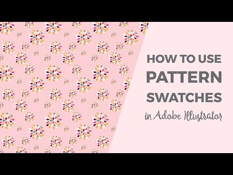 How to load and use pattern swatches in Illustrator
