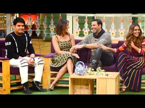 The Kapil Sharma Show - RUSTOM Special - Akshay Kumar, Esha Gupta, Ileana D'Cruz - Pics