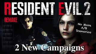 Resident Evil 2 Remake | Scenarios Revealed | No More A/B | New Leon & Claire Campaigns