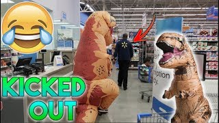 T-REX VS WALMART! *CHASED BY SECURITY*