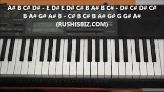 Gulabi Aankhein Jo Teri Piano Notes - Video Tutorials