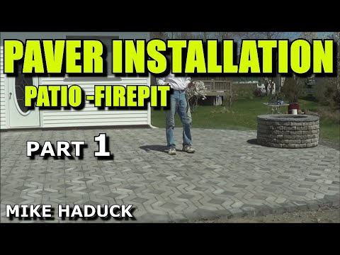 how i install a paver patio part 1 of 2 mike haduck with firepit
